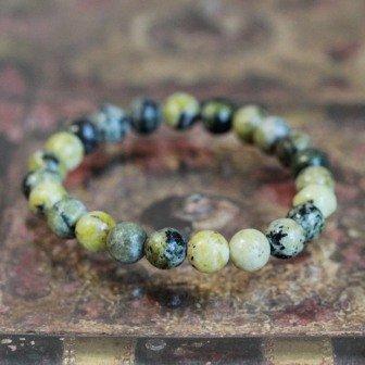 Bracelet pierre Chrysoprase