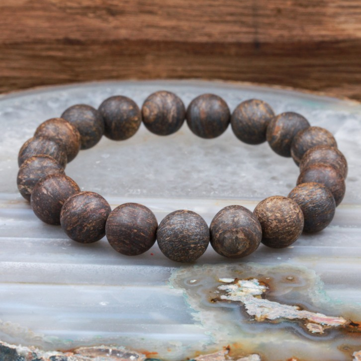 Bracelet pierre bronzite mate